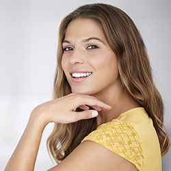 Denton Cosmetic Dentist Woman with beautiful smile